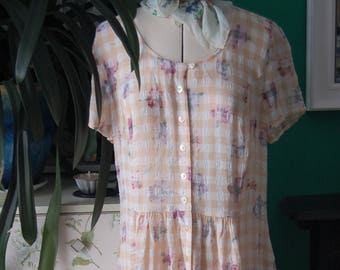 Vintage check M&S dress size 10