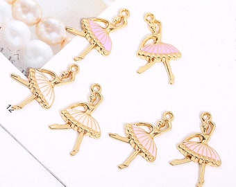 10pc Ballet Silver Charm Set Lot Collection//Choose Rings,Clasps,Bails //Ballerina