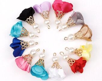 Diy 4pcs Boho Weave Handmade Lafite Tassel Earrings Charms Jewelry Accessories Video Games