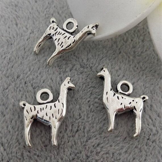 20pcs 13x17mm Antique Silver Alpaca Charm Pendants Z0512