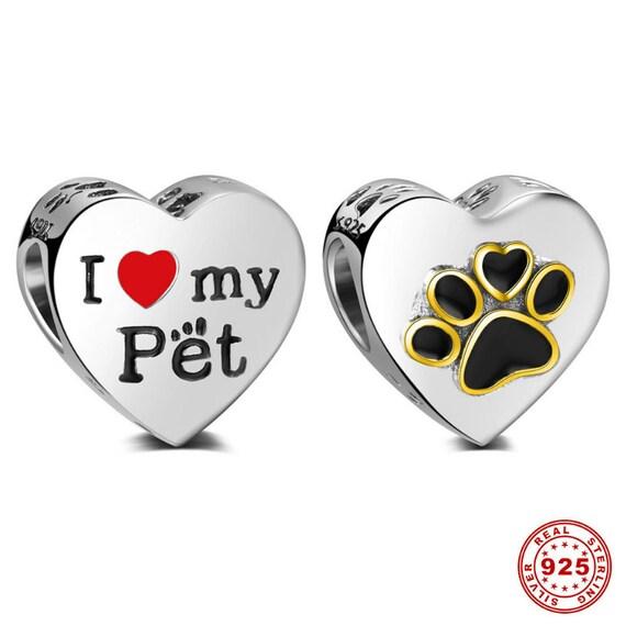 00314e4e3 100% 925 Sterling Silver Dog Paw Print Bead European Love | Etsy
