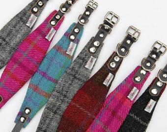Dog collar, Harris Tweed, hound collar, greyhound collar, Whippet collar, Saluki collar