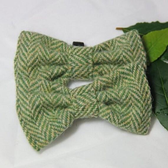Harris Tweed noeud papillon, accessoire chien, bling chien, accessoire chien, accessoire de mariage chien, chien mode, chien élégant