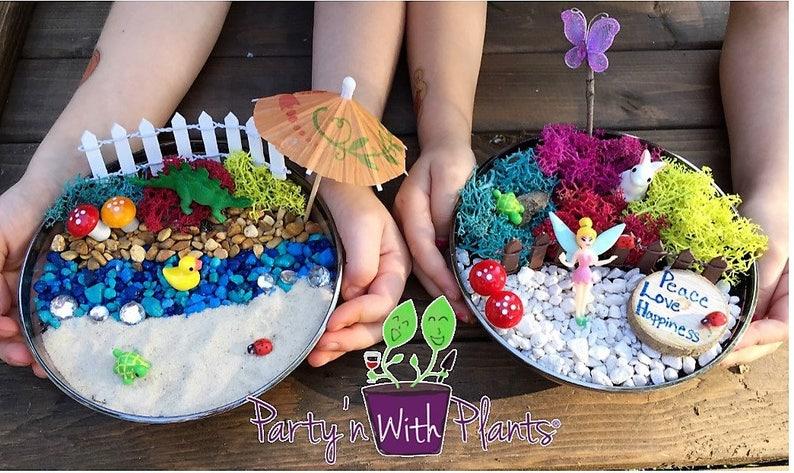 Fairy Garden kit, Terrarium Kit, Fairy Garden Party, Fairy Kit, Tinkerbell  craft, Kids Fairy Garden kit, Terrarium craft, Tinkerbell kit