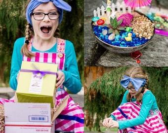 Personalized Kids Gift, Indoor Kids Craft Ideas, Kids Terrarium DIY, Fairy Garden Supplies, Fairy Garden Gift, Fairy Door, Fairy Miniature