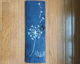 Pallet board Wish sign // home decor // wall hanging // gift