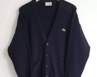08b2a05b03 Jacket   sweater 51% wool Lacoste Vintage 90s Made in France size 5 (L)  brand new.