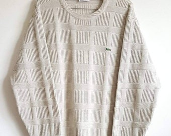 3fa4a78877e3 Pull Lacoste Vintage Années 90 Made in France Taille 4 (M).