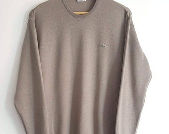 3c89a412ff5e Pull 100% Pure Laine Vierge Lacoste Vintage Années 90 Made in France Taille  4 (M) Comme Neuf.