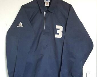 Vento   giacca impermeabile   maglia mezza Zip Bottoni Vintage degli anni    90 Adidas taglia L. f36f03908740