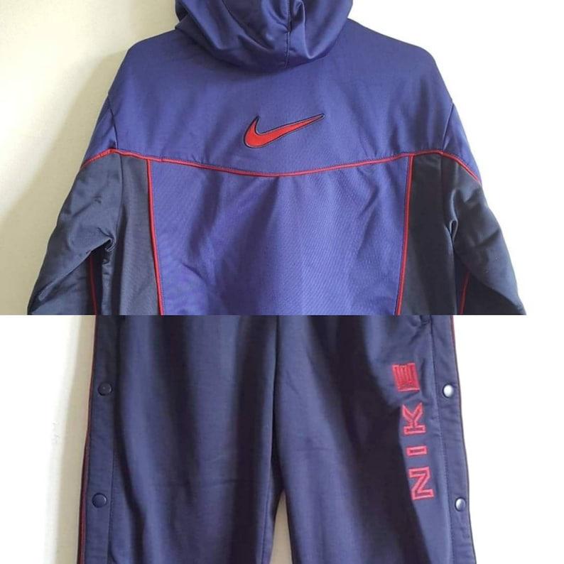 Survêtement Complet Veste + Jogging à Pressions Nike Vintage Années 90 Taille XS RARE.