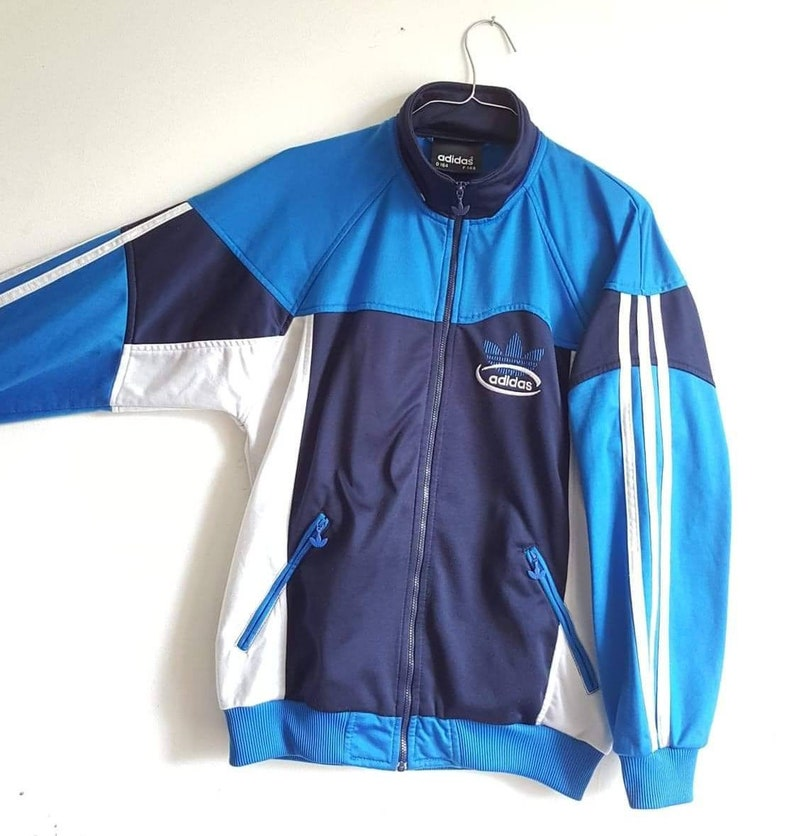 0c605b4243a1b Adidas Sport jacket vintage years 90 size S (XS/S) RARE.