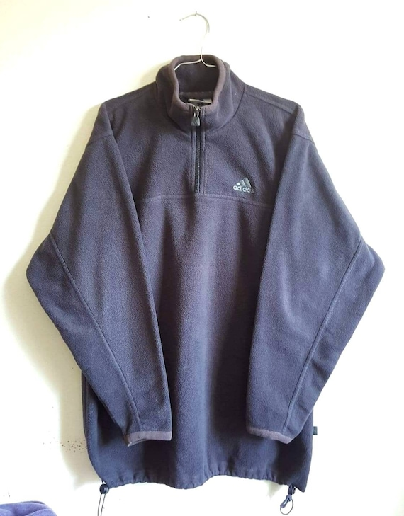 adidas fleece half zip