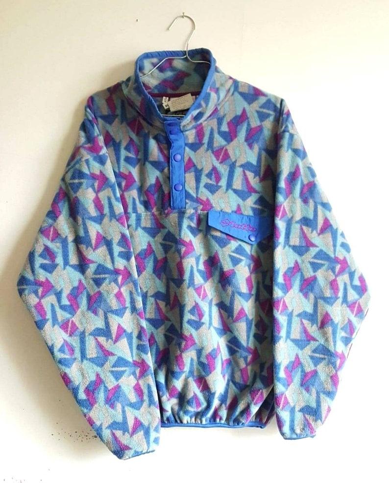 90s sweater size M like new RARE. Fleece  Half pressure Lotto Vintage 80s