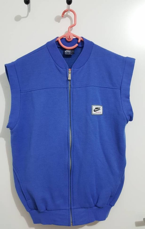 Sweat Veste sans manches Nike Oregon USA Vintage Années 90 Made in Italy Taille S Comme neuf.