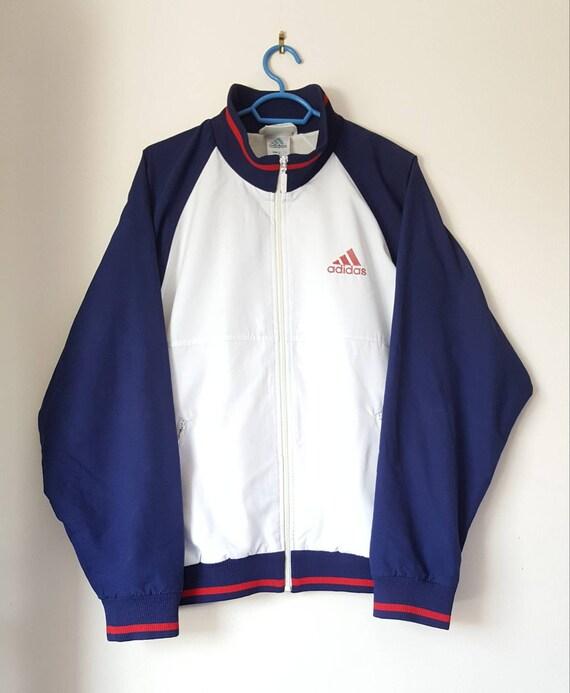 Veste Sport Adidas Vintage Années 90 Taille M Rare.