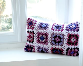 Handmade Pink knit cushion/Pillow included/45x45cm/Pillow for girls/Pillow for babies/Kid Pillow/Decorative wool Pillow