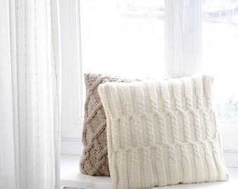 Handmade knit cushion/Pillow included/Throw Pillow/40x40cm/Pillow for babies/Kid Pillow/Decorative wool Pillow