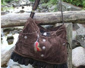 "Leather bag ""Oktoberfest"", leather, Upcycling"