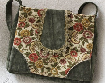 Evening bag in vintage style, Upcycling