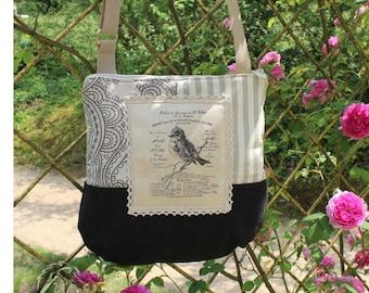 Shoulder bag, vintage style