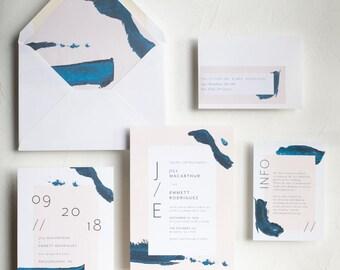 Fine Art Brush Strokes Invitation / Chloe Suite