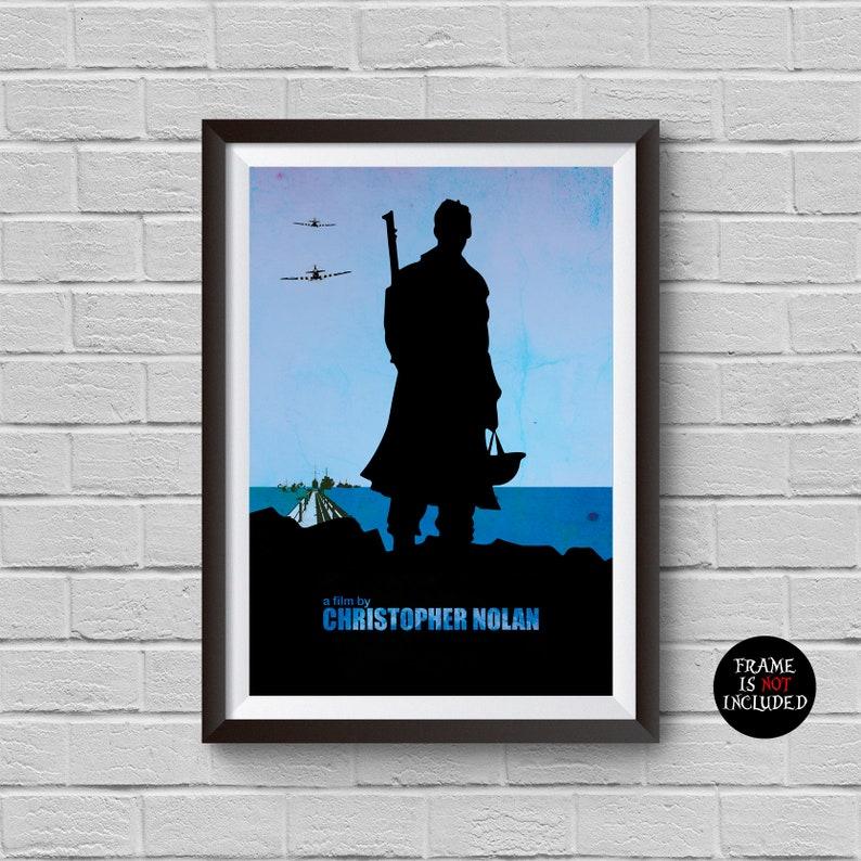 Dunkirk Movie Print Minimalist Poster Christopher Nolan Film Tom Hardy  Pilot World War 2 Illustration Wall Art Home Decor Wall Hanging Gift