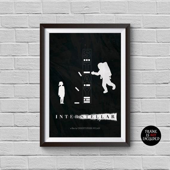 Interstellar Movie Print Minimalist Vintage Poster Christopher Etsy