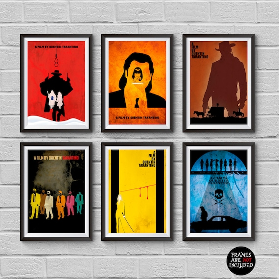 Pulp Fiction Poster Django Unchained Mia Wallace Reservoir Dogs Kill Bill