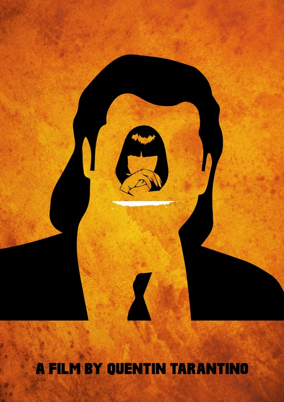 Pulp Fiction Minimalist Poster Quentin Tarantino Alternative