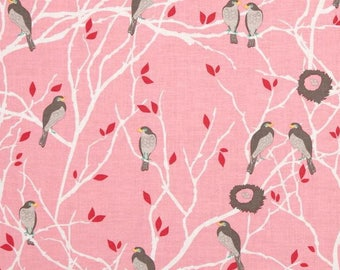 Pink patchwork with birds, Cottage Garden, Riley Blake fabric