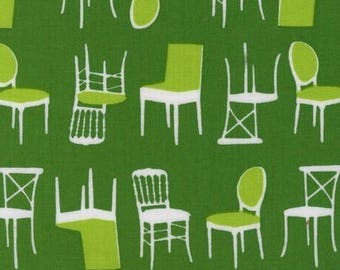 Green patchwork, Perfectly Perched, Robert KAUFMAN fabric