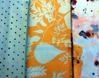 set of 3 JAY MAC CARROLL HABITAT PATCHWORK fabrics