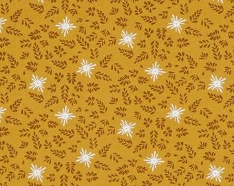Mustard PATCHWORK HOUSE OF POPPINGTON Michael Miller fabric