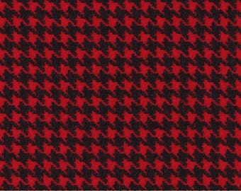 Flannel red houndstooth foot KANVAS Fabric patchwork fabric