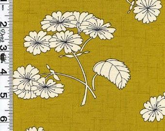 Lime green patchwork fabrics HAIKU Moda fabric
