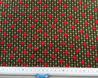 Christmas green and Red patchwork fabric Robert KAUFMAN