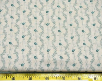 Patchwork fabric white flowers, LECIEN fabrics, Miss March, made in japan