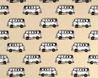beige patchwork with cars, style vintage BENARTEX fabric