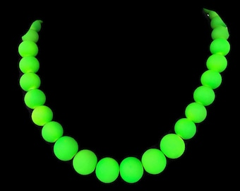 Neon Green Jewelry - Summer Necklace - Summer Jewelry - Neon Green Necklace - Neon Jewelry - Neon Necklace - Trendy Jewelry - Neon Bridal