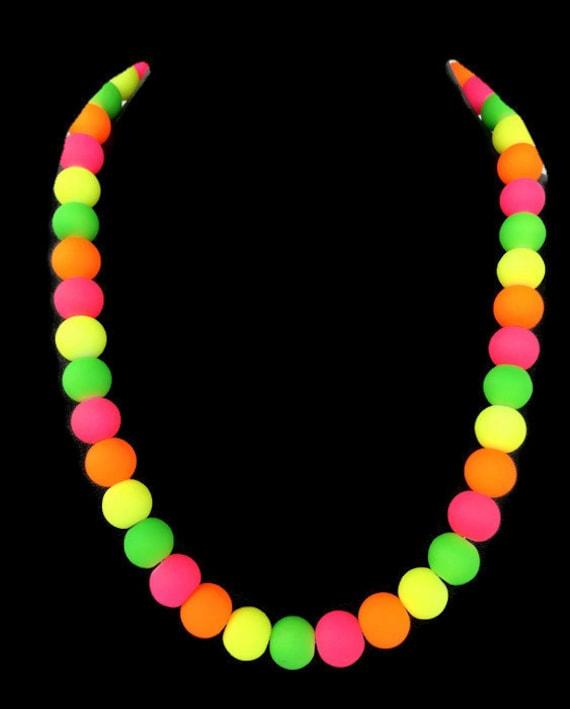 Trendy Summer Jewelry Summer Jewelry Neon Orange Jewelry Summer Time Necklace Neon Necklace Neon Orange Necklace Neon Jewelry