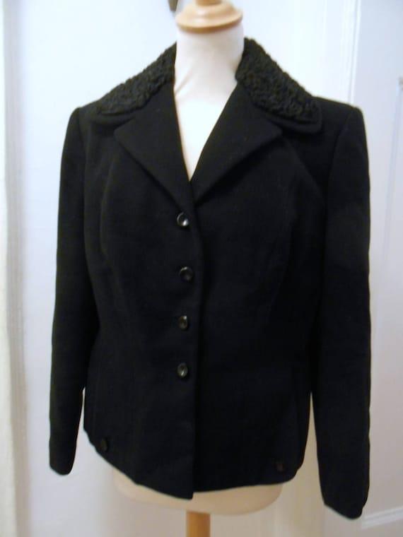 simple black original 40s 50s jacket wool