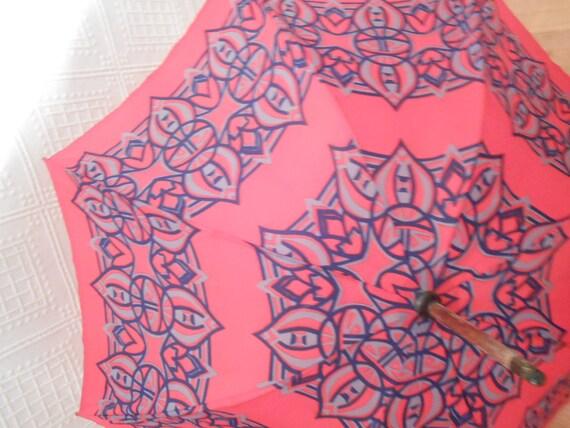 Classical red Seventies Umbrella