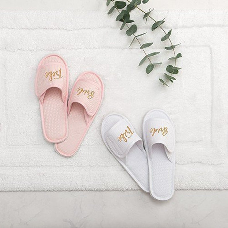 ffc8f37e5d27f Bride Tribe Crew Slippers, Bridesmaid Slippers, bridal party slippers,  bachelorette party slippers, matching slippers,bridesmaid proposal,