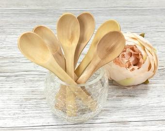 1 x Wooden Spoon, Honey Coloured Spoons, Bath Salt Scoop, Face Mask Spoon, Teaspoon, Skincare Accessories, Bath Accessory, Spa, Bath & Body