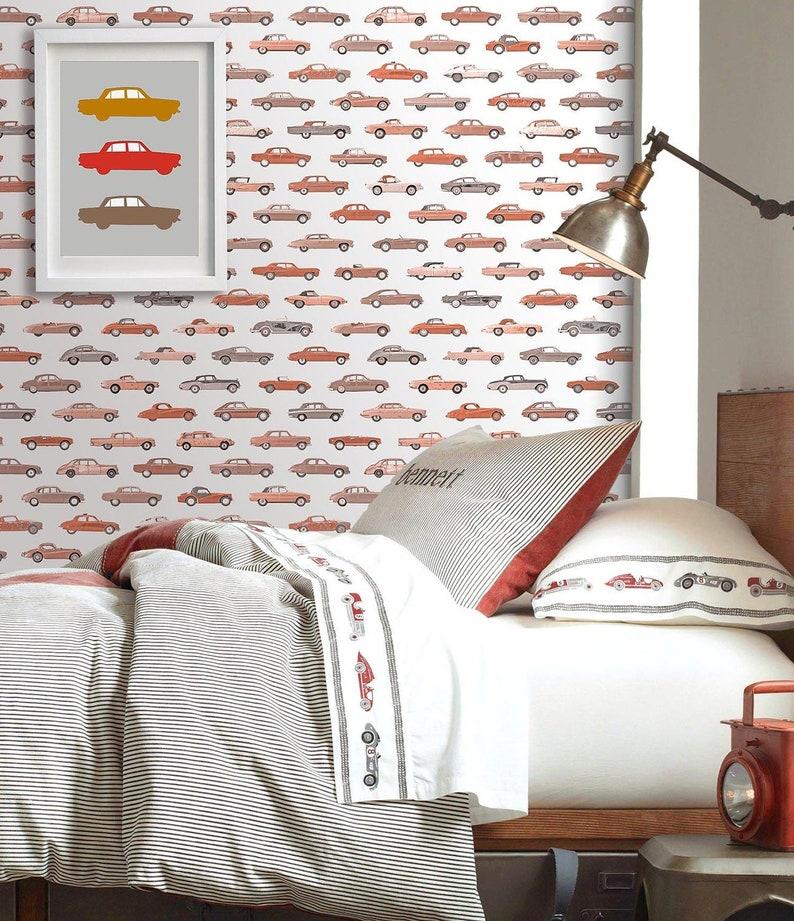 Car Race Wallpaper For Boys Bedroom Automobiles Wallpaper Etsy