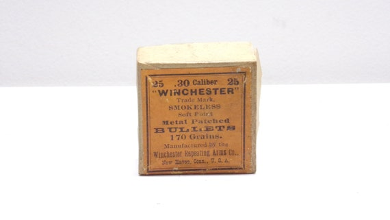 Ammo box winchester .30 cal empty box from 1940s-1950s-1960s