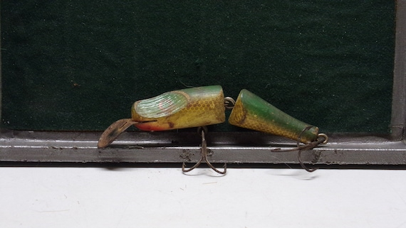 """Diving jointed minnow fishing lure 4"""" long unknown maker  1950s???????"""