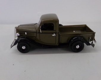 """Ford pick up truck  1937 die cast car size 6""""x2"""" 1990s"""