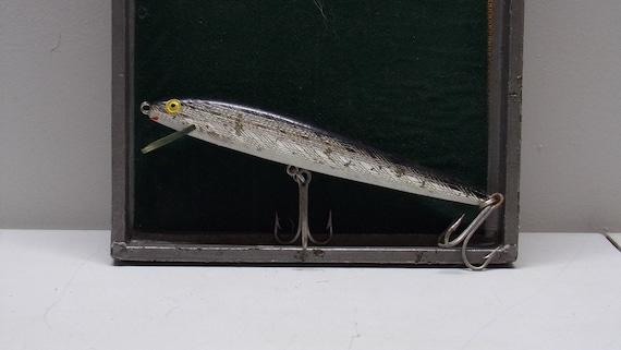 "Rebel vintage floating  minnow fishing lure 7"" long 1970s"